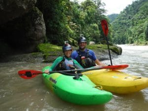 kayaking the pacuare river, costa rica