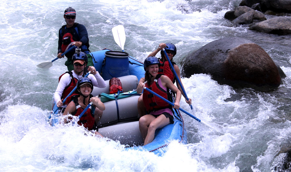 Whitewater rafting adventure with Costa Rica Rios in Costa Rica.