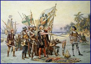 Christopher Columbus docking in Costa Rica