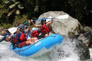 River rapids extreme adventures in Costa Rica