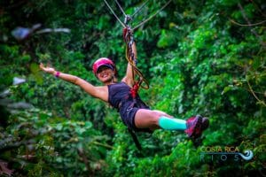 Costa Rica honeymoon zip line
