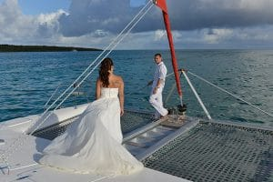 Costa Rica catamaran wedding