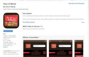 Viva el Menu app