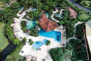 Ariel view of resort