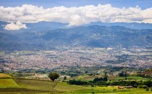Town of Cartago in Costa Rica