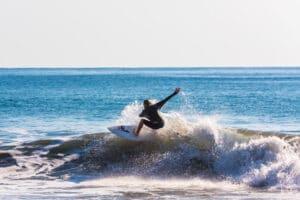 Surfing at Playa Samara